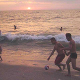 A game of fútbol on the 