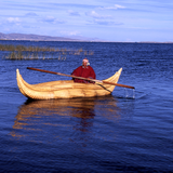 Reed boat,  Lake Titicaca. Photo by Martin Li.