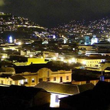 Quito's Centro Histórico at night