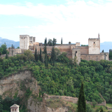 The Alhambra, as seen from San Nicolas Hill